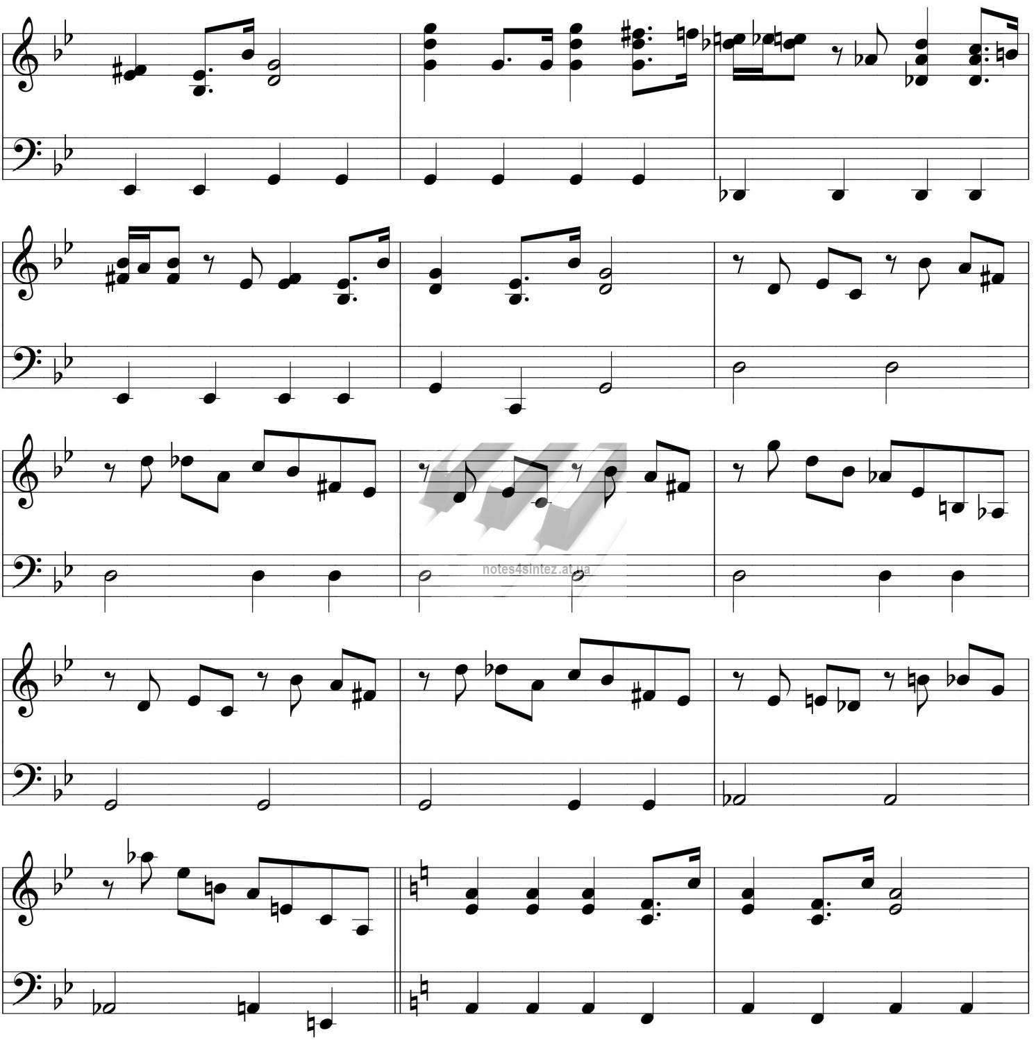 Sheet Music For Imperial March On Piano: Зарубежные